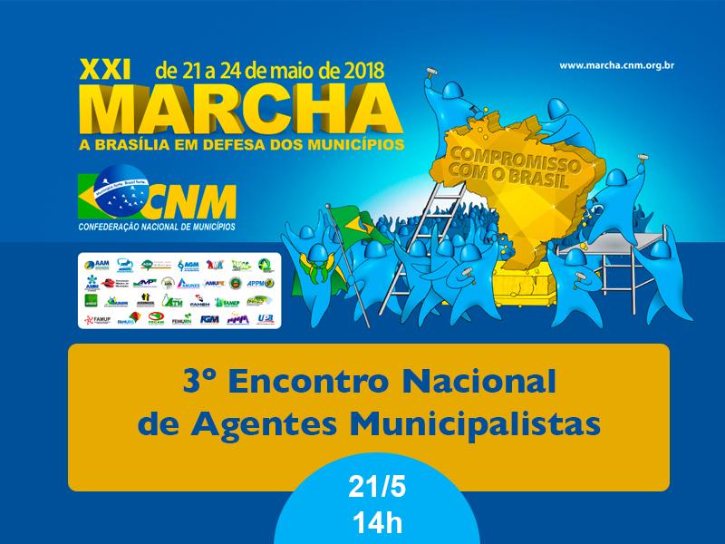 Confira a programação do 3° Encontro Nacional de Agentes Municipalistas