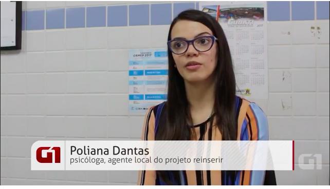 Reportagem do G1 fala sobre trabalho desenvolvido pelo Reinserir na Paraíba