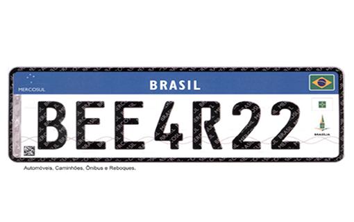 Placa padrão do Mercosul começa a ser adota, agora em 2018, no Brasil