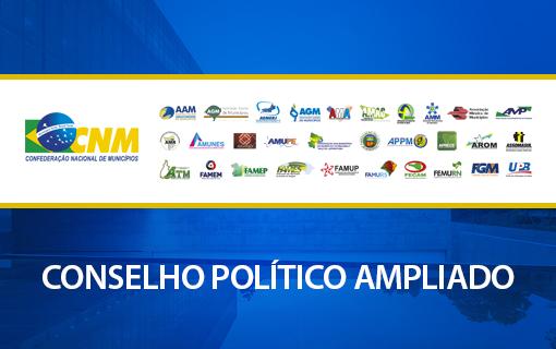 CNM promove reunião do Conselho Político Ampliado em março