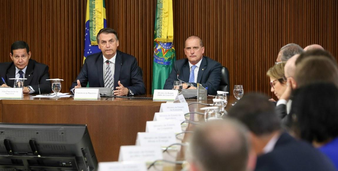 03012018 Presidente Bolsonaro e ministro Onyx Planalto