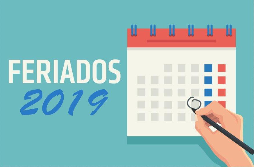 Portaria traz calendário nacional de feriados e pontos facultativos em 2019