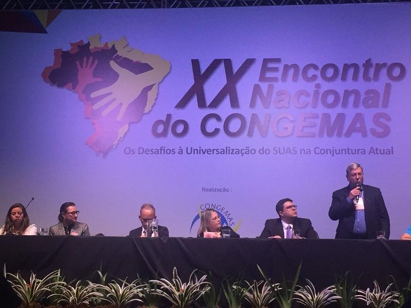 Desafios municipais para universalização do SUAS são apresentados no Encontro do Congemas