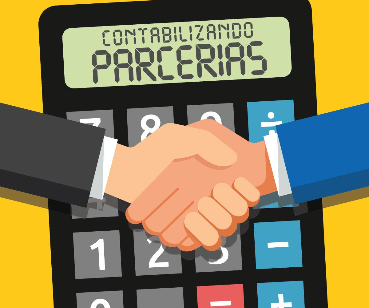 contabilizando parcerias ilustracao