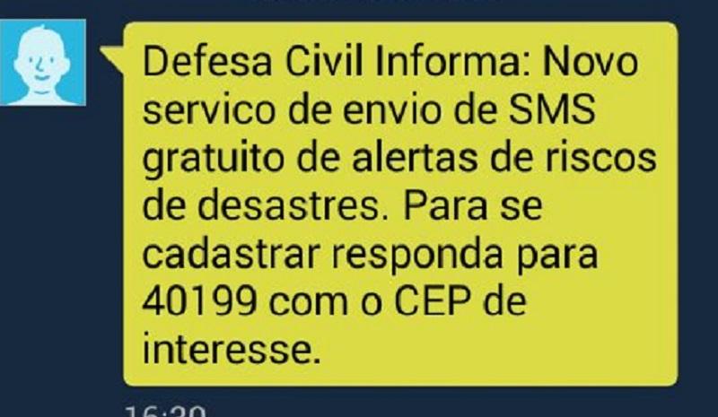 Alertas de desastres naturais por celular passam a ser enviados a todo o País