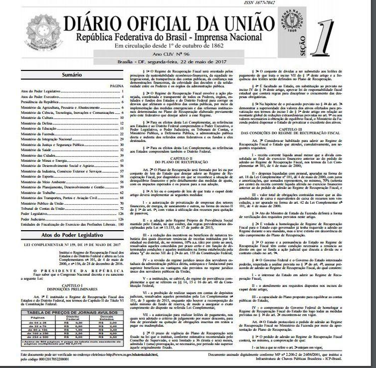 Projeto prevê a padronização dos diários oficiais da União, dos Estados e dos Municípios
