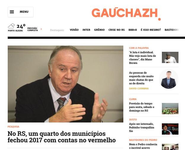 Ao Zero Hora, Ziulkoski fala sobre a crise enfrentada pelos Municípios