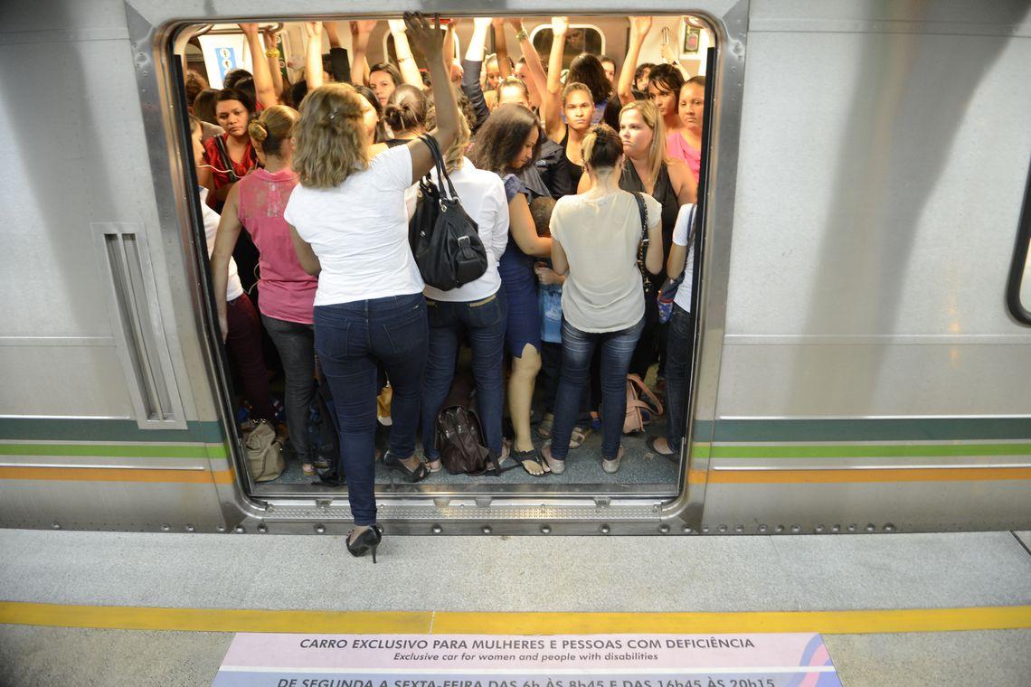 08032019 Dia da Mulher 4 vagao metro Fabio Rodrigues Pozzebom Ag Brasil