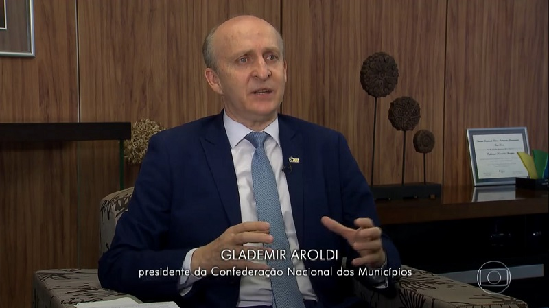 Ao Fantástico, Aroldi defende criação de novos Municípios