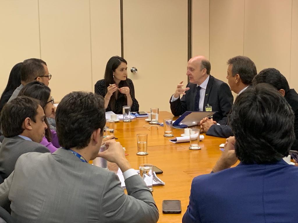 Aroldi e diretoria da CNM cobram avanço da pauta junto à equipe da SAF no Planalto