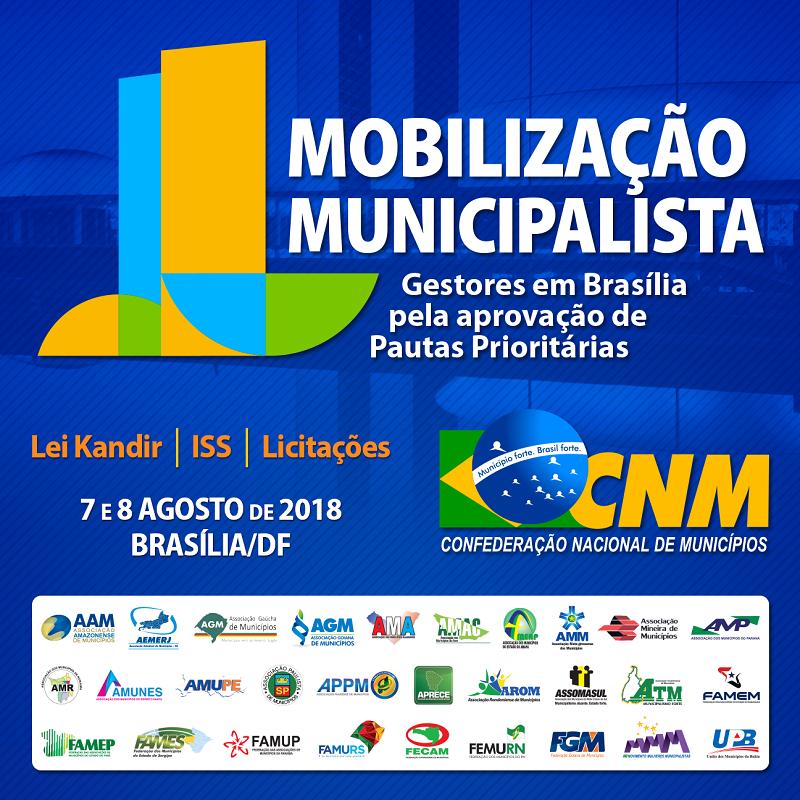 Gestores devem estar na CNM às 9h do dia 7 para mobilização