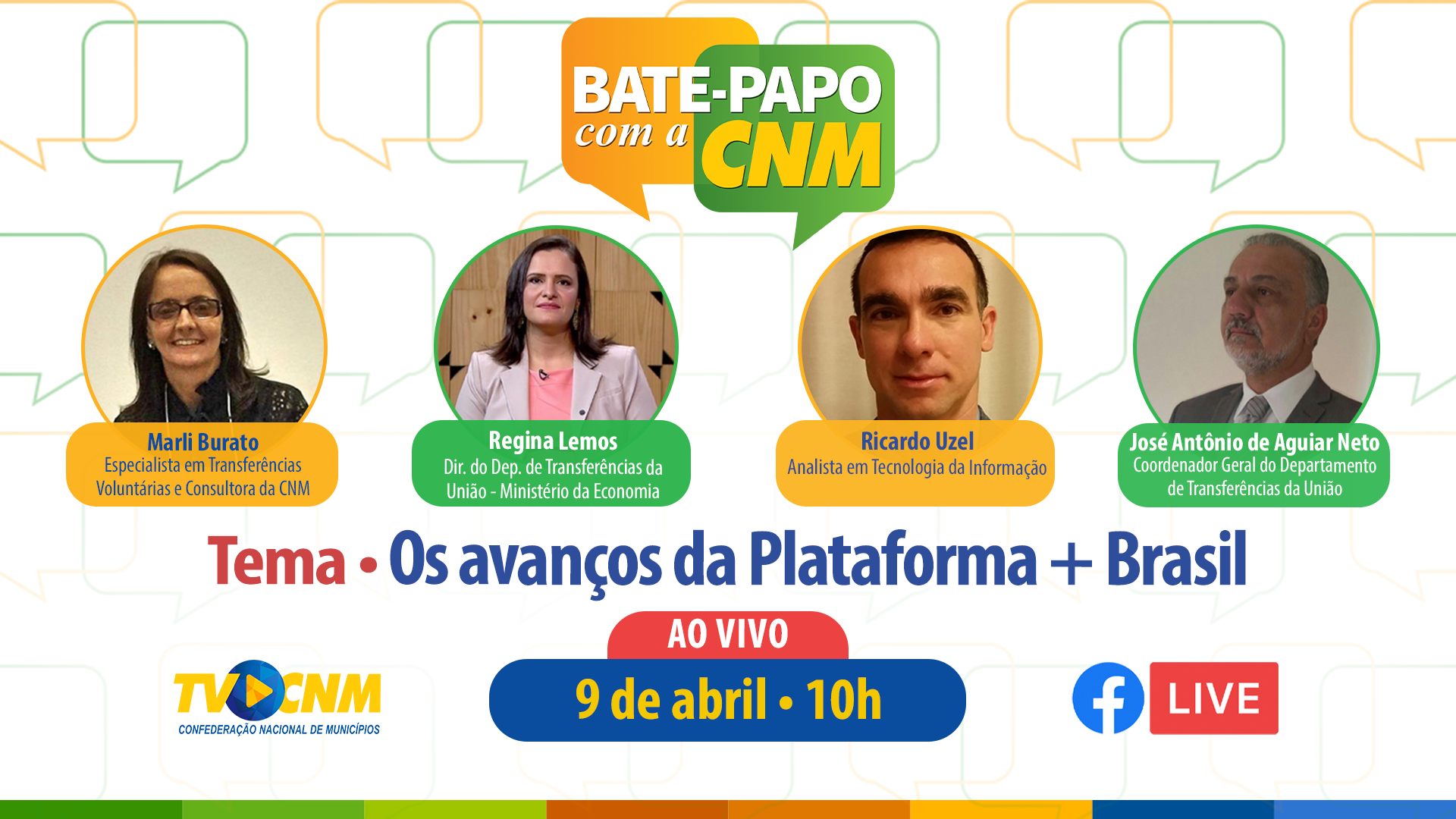 YOUTUBE Bate papo CNM 9abril
