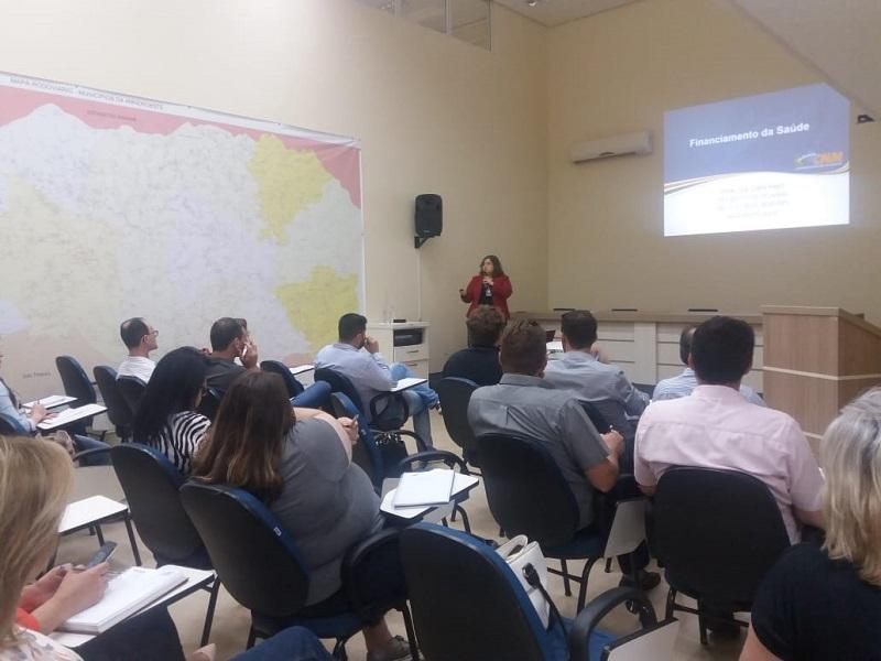 CNM participa de eventos sobre financiamento da Saúde no oeste catarinense