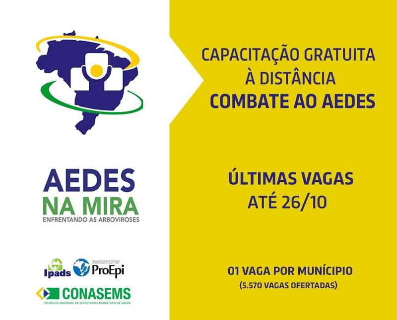 Inscrições para capacitação de combate ao mosquito Aedes aegypti encerram hoje